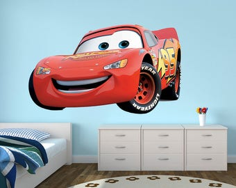 Disney Wall Decal Etsy - Lightning mcqueen custom vinyl decals for car