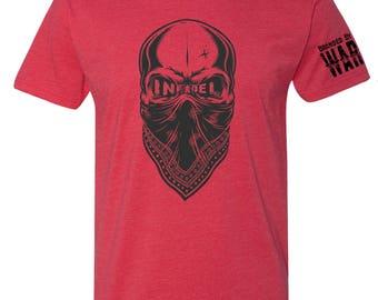 Infidel Skull Military CrossFit Warrior Veteran Shirt