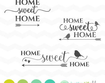 Home Sweet Home SVG File - Housewarming SVG files dxf Silhouette Cameo Cricut Explore Cut Files home decor home sweet home