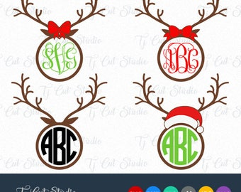 Antlers Svg, Christmas Reindeer Svg, Antlers, Reindeer Antlers Svg, Svg Files for Silhouette Cameo or Cricut Commercial & Personal Use