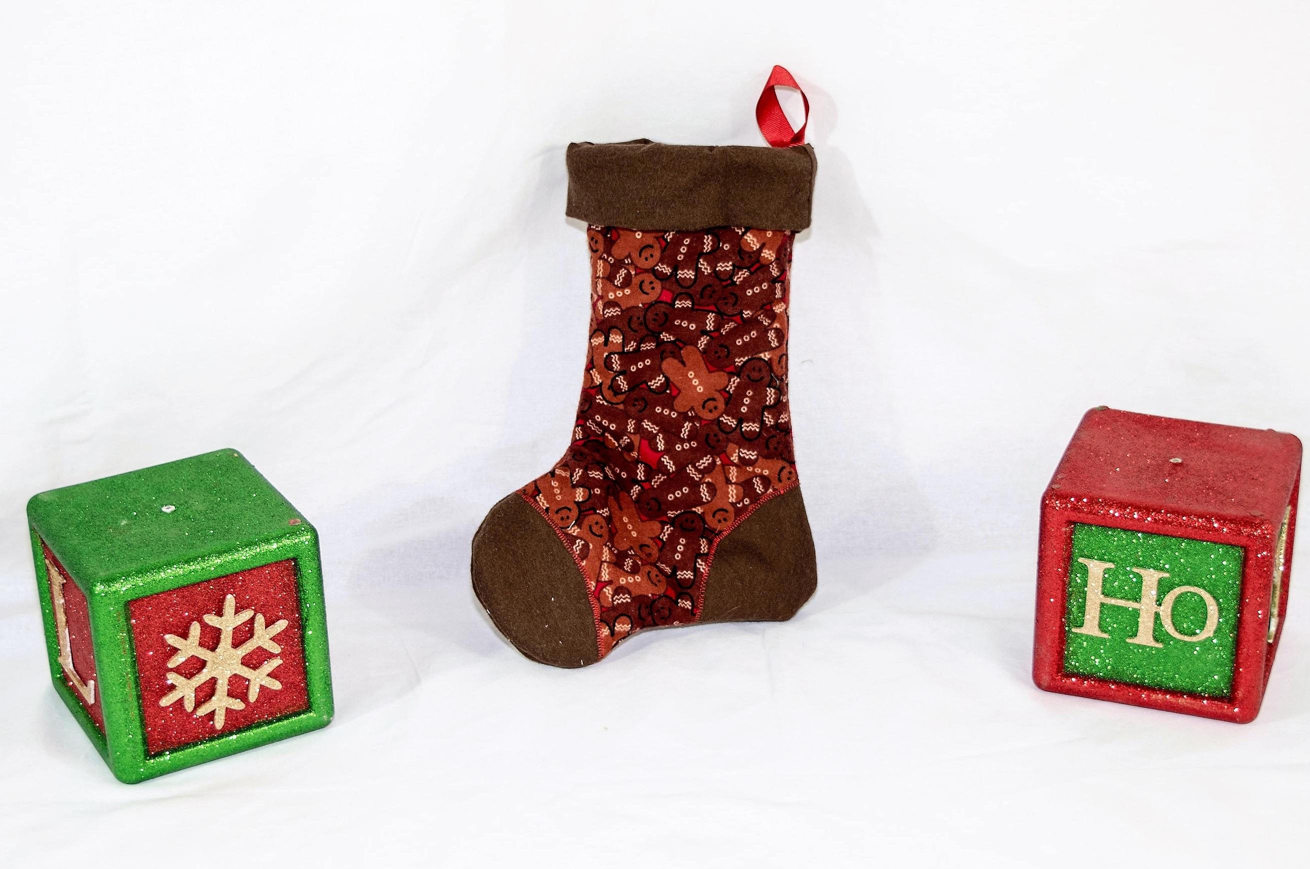 christmas stocking ginger bread men christmas decoration
