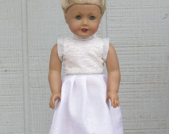 Lace Holiday Dress for 18 inch dolls