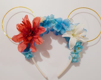 CLEARANCE!** Kida inspired Floral Minnie Ears