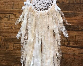 White Lace Dream Catcher