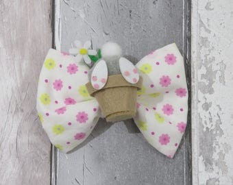 Bunny Bum Spring Easter Dog Bow Tie, Dog clothing, Doggy Bow Tie, Puppy Bow Tie, Detachable Bow Tie, Pet Bow Tie, dog accessories