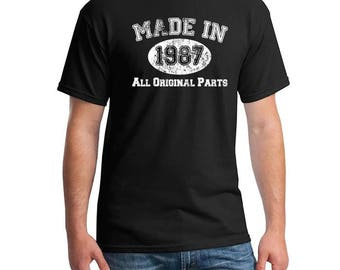 Made in Year 1987, All Original Parts, 30th Birthday Tshirt, Thirty Birthday Shirt, Funny Birthday Shirt, Birthday Gift