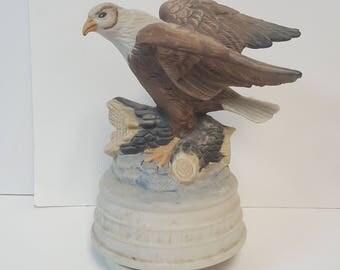 Vintage American Bald Eagle Music Box