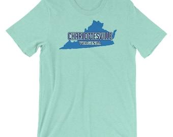 Charlottesville Virginia Pride - VA Short-Sleeve Unisex T-Shirt