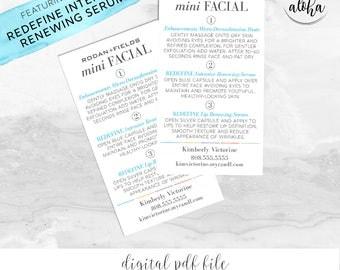 Rodan and Fields Mini Facial Card Personalized Digital File | Classic