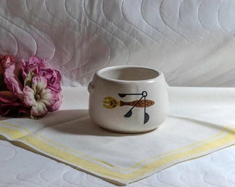 Vintage Mid Century West Bend Mini Bean Pot/Crock, Pottery Crock
