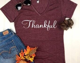 Thankful Shirt / Cute Fall Shirt / Thanksgiving Shirt for Women / Women's Fall Shirt / Thankful TShirt / Women's Thanksgiving shirt
