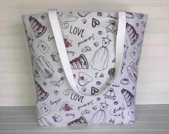 Handmade Everyday Tote | Market Bag | Bridal Tote
