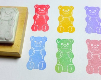 Gummy Bear Rubber Stamp
