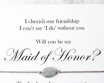 Maid of Honor proposal, wish bracelet, bridesmaid bracelet, bridesmaid gift bag, maid of honor,bridesmaid jewellery, Maid of honour