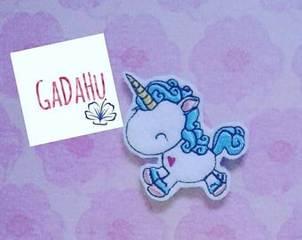 Cute unicorn feltie. Embroidery Design 4x4 hoop Instant Download. Felties