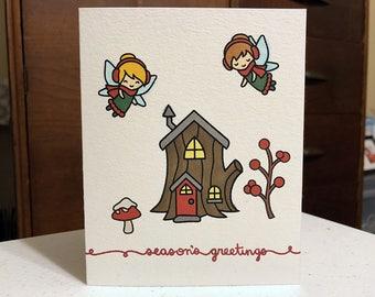 "Card ""Season's Greetings"" / Christmas Card / Holiday Card"