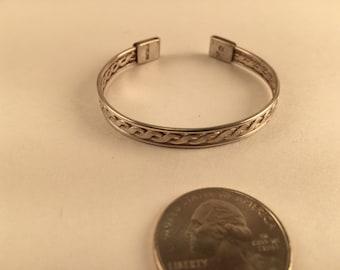 Child's Woven Sterling Bracelet