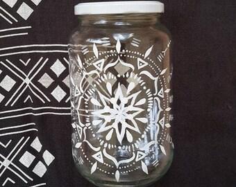 Glass jar for the bulk, mandala, zero waste, zero waste, minimalism, storage