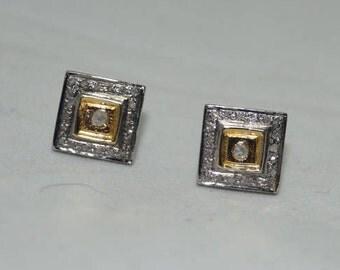 Beautiful 1.40cts pave diamonds sterling silver earrings - SKU PJER205