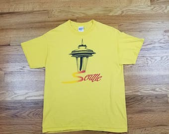 Vintage 90s Seattle Washington Space Needle T Shirt Size Medium 1990s