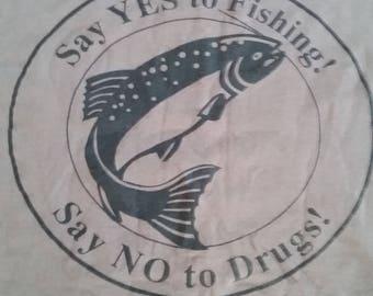 Drugs t shirt etsy for Fishing sponsor shirts