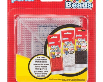 Set of 4, MINI Perler Bead Pegboards, Square Pegboards, Square Interlocking Pegboards, Melting Beads, Mini Fuse Perler Beads, Pegboards