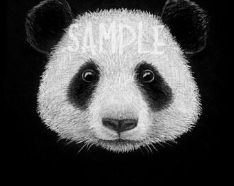 Panda Bear Drawing Etsy