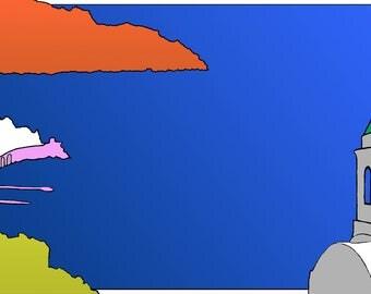 Sunset on Amalfi