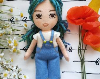 Rag doll, doll, handmade doll from felt