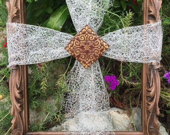 Lace Cross Frame
