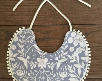 Stylish Baby Girl Round Bib Handmade