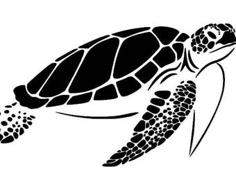 Sea Turtle Vinyl Decal - Donation to Sea Turtle Rescue With Purchase