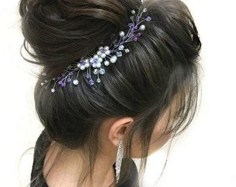 Pearl Headpiece Wedding hair comb Bridal comb Pearl hair comb wedding hair pieces Wedding headpiece wedding hair  Crystal Bridal Hair Piece