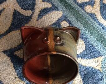 Large ceramic pig salt cellar