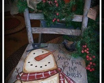 Kay's Primitive Designs Snow is for the Birds Painting Pattern Packet