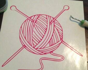 Yarn Ball Decal