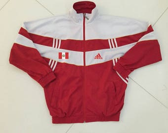 PERU Adidas jacket running track suit size L