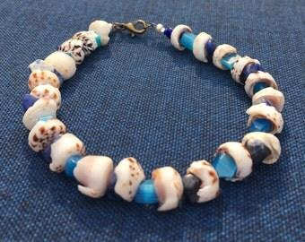 Stone and Shell Bracelet