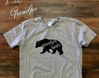 grandpa, bear, shirt, father's day, gift, shirt, grandfather, father, novelty, funny,interesting,humorous