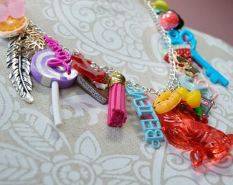 MEGA Charm Necklace * OOAK * Perfect Quirky Statement Piece!