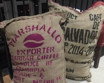 Burlap Coffee Sack Floor Pillow
