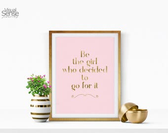 Motivational Print, Printable Quote, Printable Inspirationa, Wall Art, Two colours included