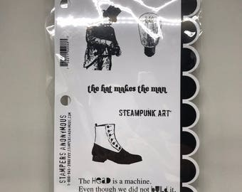Destash Stampers Anonymous Studio 490 Wendy Vecchi Steampunk Art Stamp Set * BRAND NEW * NIP
