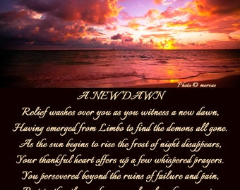 A New Dawn Original Poetry Picture Gift for all Occasions
