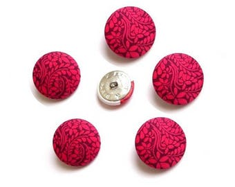 5 buttons covered with liberty fabric Tom Daley TAILLE and color OPTION, buttons are made in France
