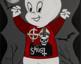 El Gato Gomez Ghost BC Doom Metal Heavy Metal  Psychedelic Rock Casper The friendly Ghost Vintage TV Art Print
