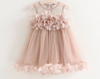 Beautiful Netted 3D flower dress