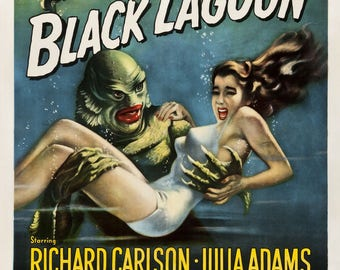 Creature of the black lagoon poster size A2.