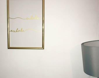 Inhale Exhale Yoga Gold Wall Art