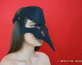 Leather Raven Mask